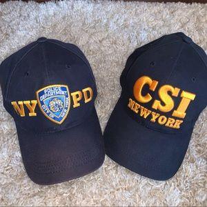 Accessories - 2 baseball hats (CSI NY and NYPD)